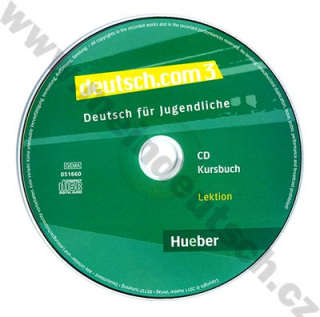 deutsch.com 3 - 2 audio-CD k 3. dielu učebnice