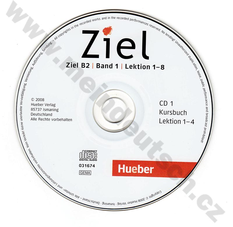 Ziel B2/1 – 2 audio-CD k 1. poldielu B2 (lekcie 1-8)